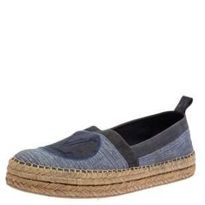 Louis Vuitton Blue Denim Logo Espadrille Sneakers Size 41