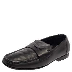 حذاء لوفرز لوي فيتون سانتياغا دامييه أسود منقوش مقاس 41.5