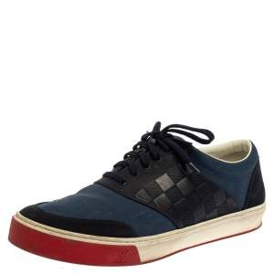 Louis Vuitton Blue/ Navy blue Canvas And Suede Pinball Sneaker Size 43