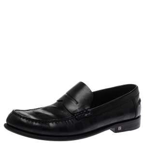 حذاء لوفرز لوي فيتون سانتياغو جلد دامييه أسود منقوش مقاس 41
