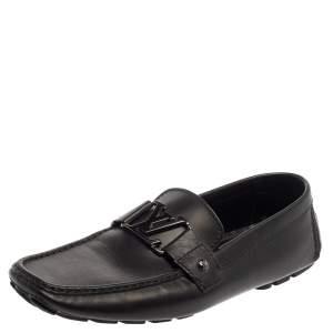 حذاء لوفرز لوى فيتون مونت كارلو جلد أسود مقاس 43