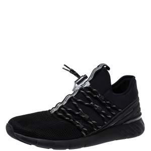 Louis Vuitton Black Mesh And Fabric Fastlane Lace Up Sneakers Size 44