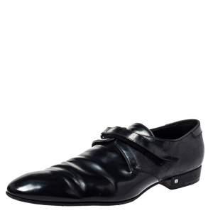 Louis Vuitton Black Damier Leather Velcro Loafers Size 47