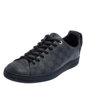 Louis Vuitton Damier Cobalt Canvas Frontrow Low Top Sneakers Size 43.5