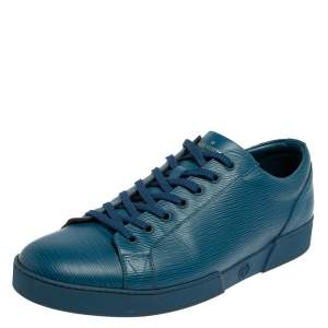 Louis Vuitton Blue Epi Leather Concorde Low Top Sneakers Size 44