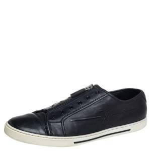 Louise Vuitton Black Leather Low Top Sneaker Size 44.5