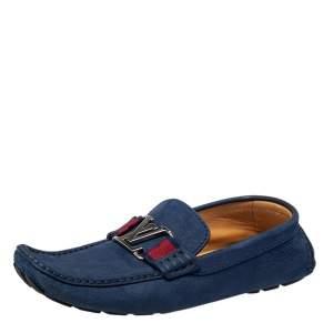 حذاء لوفرز لوي فيتون مونتي كارلو سويدي أزرق مقاس 41.5