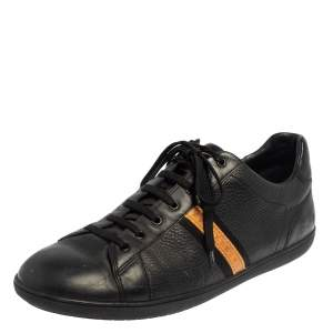 Louis Vuitton Black  Leather Low Top Sneakers Size 45