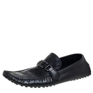 حذاء لوفرز لوي فيتون هوكينهيم جلد دامييه أسود مقاس 45