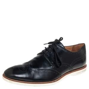 Louis Vuitton Black Brogue Leather Lace Up Derby Size 43