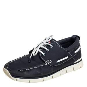 Louis Vuitton Blue Canvas Boat Shoes Size 45