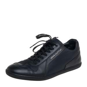 Louis Vuitton Black Nylon And Leather Low Top Sneakers Size 41