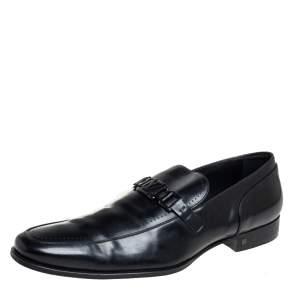 Louis Vuitton Black  Leather Major Loafers Size 45