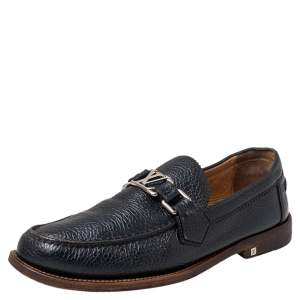 Louis Vuitton Black Leather Major Loafers Size 41