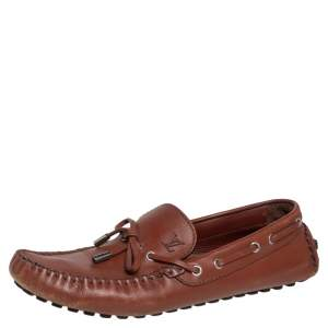 Louis Vuitton Brown Leather Arizona Loafers Size 43