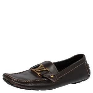 حذاء لوفرز لوي فيتون مونت كارلو جلد بني مقاس 43