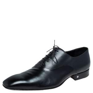 Louis Vuitton Black Leather And Epi Leather Lace Up Derby Size 45