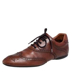 Louis Vuitton Brown Brogue Leather Derby Size 44.5