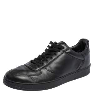 حذاء رياضي لوي فيتون ريفولي جلد أسود مقاس 41.5