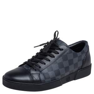 Louis Vuitton Graphite Canvas and Leather Match Up Low Top Sneakers Size 41