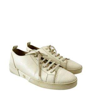 Louis Vuitton White Epi Leather Low Top Lace Up Sneakers Size 9 EU 43
