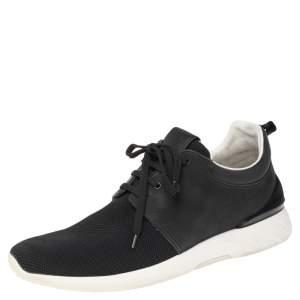 Louis Vuitton Black Leather & Mesh Fastlane Sneakers Size 44.5