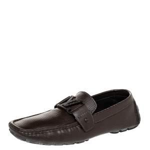 Louis Vuitton Dark Brown Epi Leather Monte Carlo Slip On Loafers Size 41