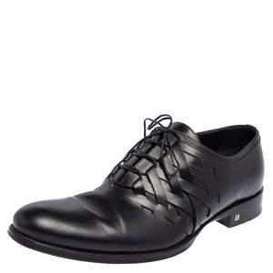 Louis Vuitton Black Leather Oxfords Size 42