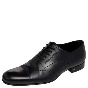 Louis Vuitton Black Leather Lace Up Derby Size 41