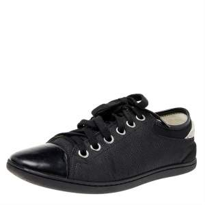 Louis Vuitton Black Damier Fabric And Leather Sneakers Size 39