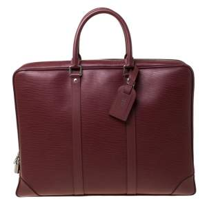 Louis Vuitton Bordeaux Epi Leather Porte-Documents Voyage Bag