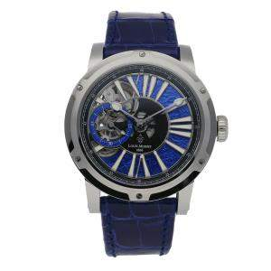 Louis Moinet Blue Stainless Steel Metropolis Magic Blue Limited Edition LM-45.10.20 Men's Wristwatch 43 MM