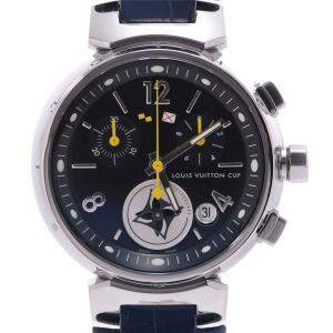 Louis Vuitton Black Stainless Steel Tambour Lovely Cup MM Q132G Quartz Men's Wristwatch 33 MM