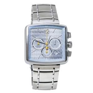 Louis Vuitton Blue Stainless Steel Speedy Q2121 Men's Wristwatch 40 mm