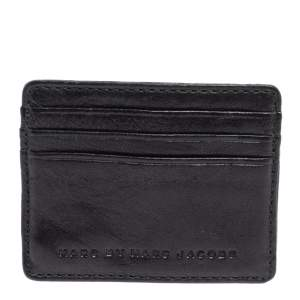 Marc By Marc Jacobs Black Leather Card Holder