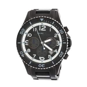 Marc by Marc Jacobs Black PVD Coated Stainless Steel Marine Rock MBM5025 Men's Wristwatch 45 mm