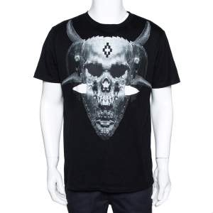 Marcelo Burlon Black Graphic Print Cotton T-Shirt M