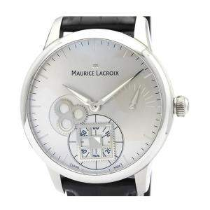 Maurice Lacroix Silver Stainless Steel MP7158 Men's Wristwatch 43 MM