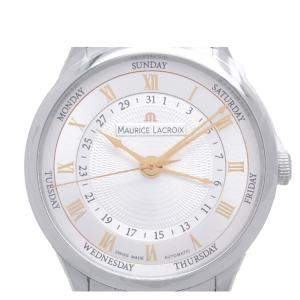 Maurice Lacroix Silver Stainless Steel Masterpiece Tradition MP6507 Men's Wristwatch 40 MM
