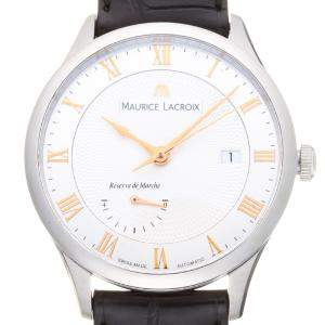 Maurice Lacroix Silver Stainless Steel Masterpiece Tradition Power Reserve MP6807 Men's Wristwatch 40 MM
