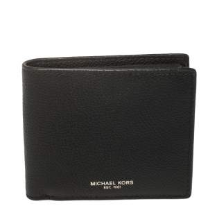 Michael Kors Black Leather Andy Bifold Wallet