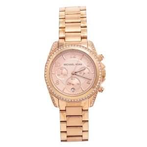 Michael Kors Champagne Rose Gold Plated Blair MK5263 Women's Wristwatch 39 mm