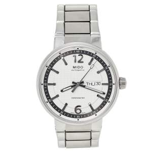 Mido Silver White Stainless Steel Great Wall M015.631.11.037.09 Men's Wristwatch 42 MM
