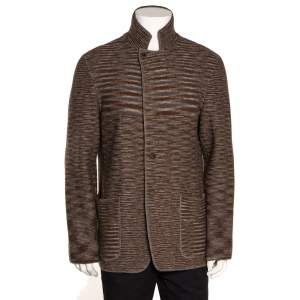 Missoni Brown Wool Two Button Jacket L