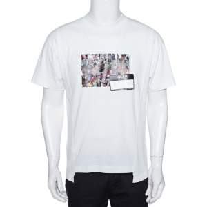 8 Moncler X Palm Angels White Collage Print Cotton Crew Neck T-Shirt S