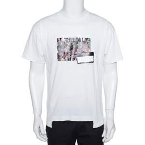 8 Moncler X Palm Angels White Collage Print Cotton Crew Neck T-Shirt S