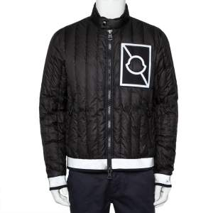 Moncler X Craig Green Black Synthetic Reflective Hem Detail Down Puffer Altman Jacket L