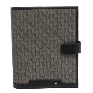 Montblanc Brown Monogram Coated Canvas Agenda Organizer