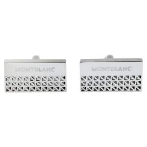 Montblanc Silver Tone Skeleton Graphic Rectangular Cufflinks