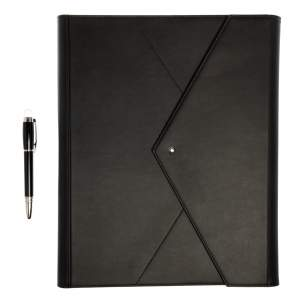 Montblanc Black Leather Augmented Paper+A4 Set